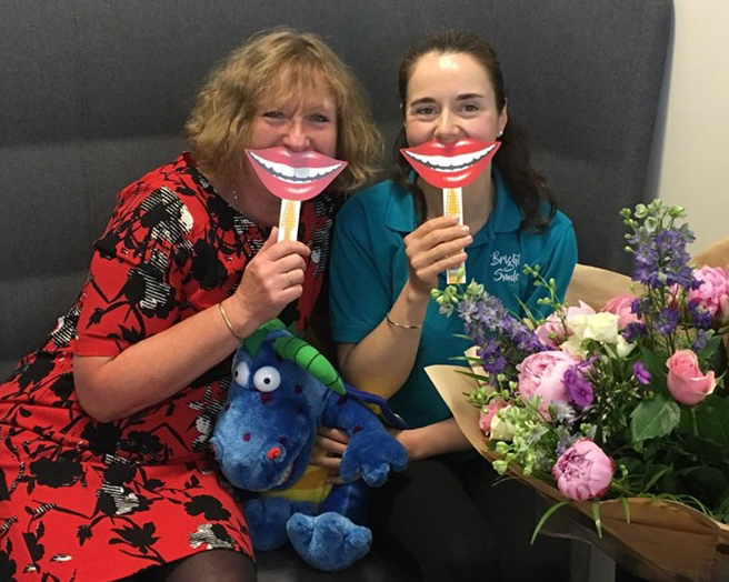 Nominate a Smile winner Jo, with Tracy